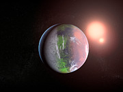 Alien World Prints - Extrasolar Planet, Artwork Print by Christian Darkin