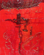 Fort Worth Mixed Media - Extravagant Red by James Haddock