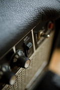 Knob Prints - Extreme Close-up Angled Shot Of An Amplifier Print by Christopher Kontoes
