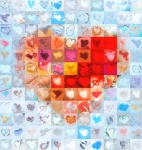 Grid Of Heart Photos Digital Art - Extreme Makeover Home Edition Katrinas Heart Two by Boy Sees Hearts