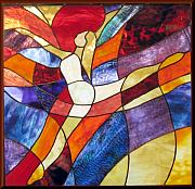 Dancer Glass Art - Exuberance by Howard Mendelson