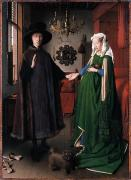 Romance Renaissance Framed Prints - Eyck: Arnolfini Marriage Framed Print by Granger