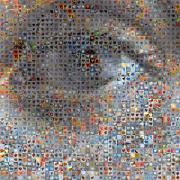 Mosaic Digital Art Prints - Eye 1  Print by Boy Sees Hearts