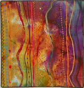 Art Quilt Tapestries - Textiles Prints - Eye Candy Print by Jenny Williams