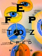 Optometry Posters - Eye Chart Poster by Randall Weidner