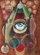 Merlin Mixed Media Posters - Eye-conographic Poster by Dan Earle