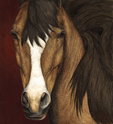 Equine Posters - Eye Contact Poster by Pat Erickson