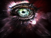 Outer Space Mixed Media - Eye from the Stars by Yvon -aka- Yanieck  Mariani