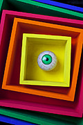 Squares Prints - Eye In The Box Print by Garry Gay