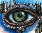 Jon Baldwin Art Paintings - Eye  by Jon Baldwin  Art
