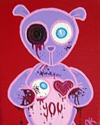 Dan Keough Paintings - Eye Love You by Dan Keough