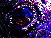 Wingsdomain Mixed Media - Eye of a Raven by Wingsdomain Art and Photography
