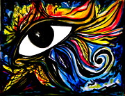 Horus Painting Posters - Eye of Horus Poster by Iris Vanessa Hood