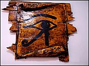 Horus Metal Prints - Eye Of Horus Metal Print by Paulo Zerbato