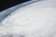 Cyclone Prints - Eye Of Hurricane Irene As Viewed Print by Stocktrek Images