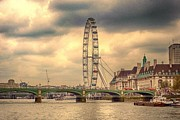 London Skyline Digital Art Prints - Eye of the City Print by Sharon Lisa Clarke