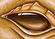 Eye Of The Earth Dragon Print by Elaina  Wagner