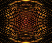 Believe Digital Art - Eye of the Honeycomb Fractal by Miabella Mojica