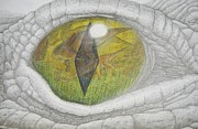Tree Creature Mixed Media Prints - Eye of the Hunter Print by David Pry