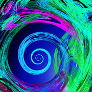 The Nature Center Digital Art - Eye Of The Hurricane Abstract by Andee Photography