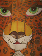 Cats Tapestries - Textiles Posters - Eye of the Jaguar Poster by Kelly     ZumBerge