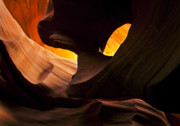 Antelope Canyon Metal Prints - Eye of the Needle Metal Print by Mike  Dawson