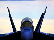 Fa-18 Posters - Eye of the Super Poster by Clay Greunke