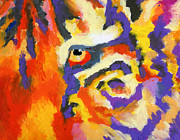 Jungle Animals Paintings - Eye of the Tiger by Stephen Anderson