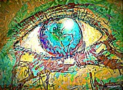 Color Symbolism Originals - Eye Post-Impressionist by Paulo Zerbato
