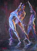 Ballet Dancers Painting Posters - Eye to Eye II Poster by Ann Radley