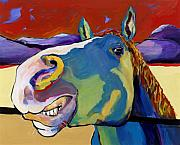 Smiling Painting Posters - Eye To Eye Poster by Pat Saunders-White