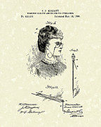 Merritt Posters - Eyeglass Holder 1890 Patent Art Poster by Prior Art Design