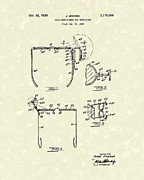 Rear View Drawings - Eyeglass Mirror 1939 Patent Art by Prior Art Design