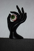 Assemblage Sculpture Originals - EyeHand by Douglas Fromm