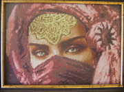 Picture Tapestries - Textiles Originals - Eyes 3 by Veselina Simeonova