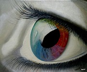 Posters On Paintings - Eyes Against Spectrum by Syed kashif Ahmad