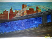 Pittsburgh Paintings - Eyes Closed View by Michele Moore