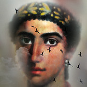 Surrealism Photo Prints - Eyes from the Past Print by Mostafa Moftah