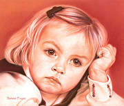 Pastel Drawing Drawings - Eyes of a Little Girl by Natasha Denger