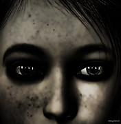 3d Portraits Posters - Eyes of Despair Poster by Fotios Pavlopoulos