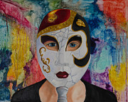 Mardi Gras Paintings - Eyes of Mardi Gras by Sherrie Phillips