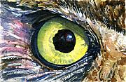 John Benson Paintings - Eyes of Owls No. 2 by John D Benson