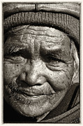 Aging Framed Prints - Eyes of Soul 2 Framed Print by Skip Nall