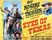The Horse Photo Posters - Eyes Of Texas, Top To Bottom Roy Poster by Everett
