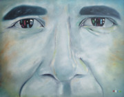Obama Paintings - Eyes of the Future by Harry T Ellis