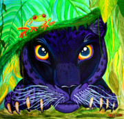 Panther Paintings - Eyes of the Rainforest by Nick Gustafson