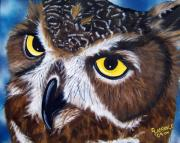 Raptor Paintings - Eyes of Wisdom by Debbie LaFrance