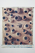 Sight See Prints - Eyes on braille page Print by Garry Gay