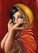 Warm Colors Paintings - Eyes by Scarlett Royal