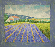 South Of France Prints - Eze Lavender South of France Print by Frederic Payet